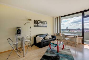 Top location at the Rosenheimer Platz: furnished 1-room apartment with balcony