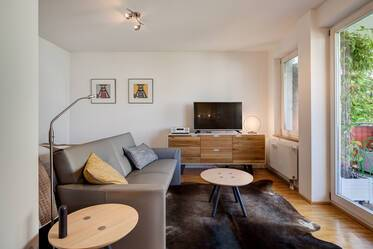 Central in the Glockenbachviertel: Lovely, quiet 1-room apartment with balcony