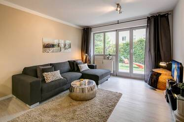 Rental in Karlsfeld near MAN and MTU - beautifully furnished 2-room terrace apartment