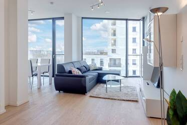 Premium living near Hirschgarten in the new construction FRIENDS tower: Exclusive 2-room apartment