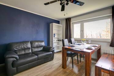 Furnished 1-room apartment with separate kitchen in M-Johanneskirchen near airport line S8