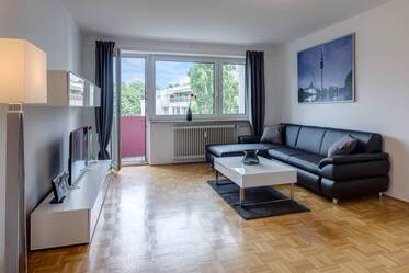 High-quality 3-room apartment with two bedrooms, internet and a free view