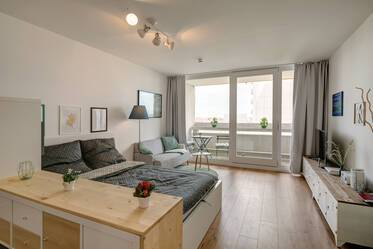 In the Olympic Village: Bright 1-room apartment with like new furnishing