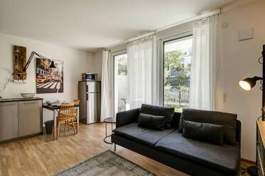 Very beautiful 1.5-room apartment with like new furniture, near Messestadt Riem