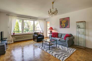 Spacious, furnished 2-room apartment (80sqm) in very good residential area in Munich-Solln