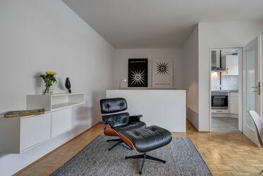 Stylish, beauifully furnished 1.5-room apartment in Munich-Laim