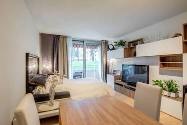 Pretty, spacious 1-room apartment with balcony in quiet location at the Ostpark