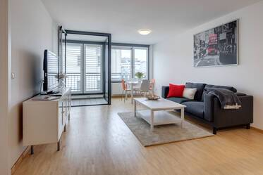 Modern style furnished 3-room apartment in central location, Munich-Maxvorstadt near Stiglmaierplatz