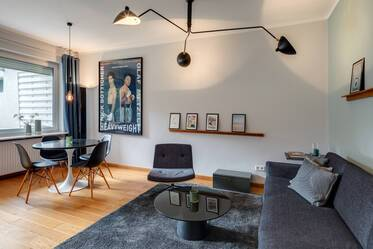 First-time occupancy: beautiful 2-room apartment with garden in Munich-Schwabing