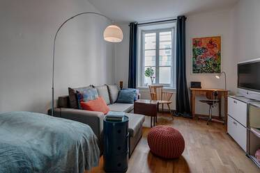 Lovely 1-room apartment with terrace in period building, Munich-Giesing