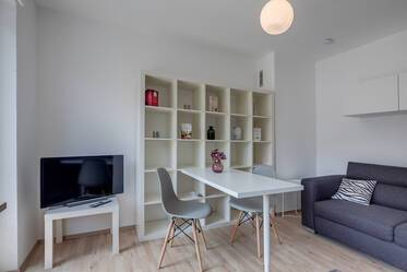 Renovated and newly furnished: 2-room apartment with large roof terrace in Munich-Giesing