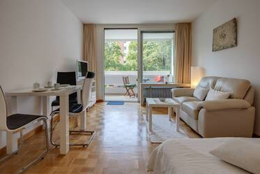 Nicely furnished 1-room apartment in Munich Bogenhausen