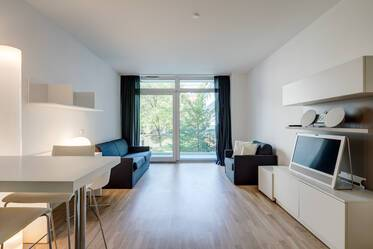Nicely furnished, modern 1-room apartment with concierge service in Munich-Bogenhausen