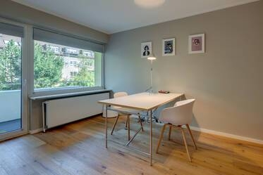 Munich-Giesing: Furnished 1-room apartment with balcony