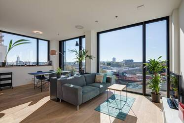 FRIENDS-tower (tower 2): Beautifully furnished, modern 2-room apartment in Munich-Nymphenburg