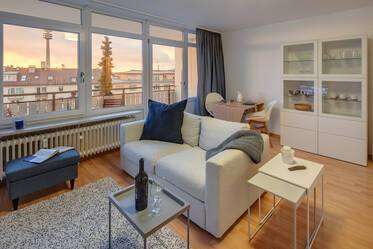 Living at the Luitpoldpark - Pretty 1-room apartment with view over the rooftops