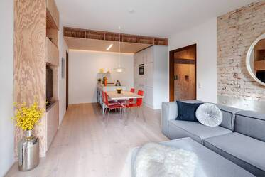 Very beautiful, stylish 3.5-room designer-apartment in quiet location in Munich-Westend