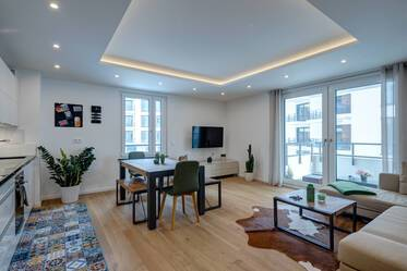 New building 2018: Very beautiful and bright 3-room apartment with two bedrooms and balcony