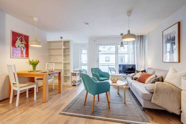 First occupancy: Very beautiful, stylish and spacious 1-room apartment in Munich-Milbertshofen