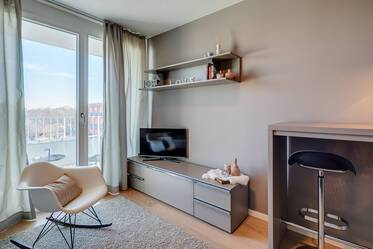 Furnished studio with concierge service in Schwabing-West, directly at the Olympiapark