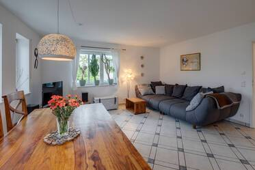 Sunny, family-friendly 5-room maisonette apartment south of Munich in Wolfratshausen
