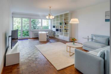 Near Dantebad and Westfriedhof: Nicely furnished 3-room apartment with terrace, garden and parking space