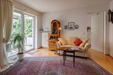 In good residential area: Fully furnished 2-room apartment in Munich-Schwabing West