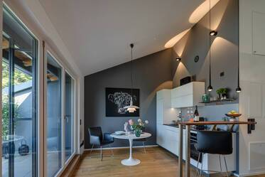 New construction May 2019: High-quality furnished 2-room apartment with large roof terrace