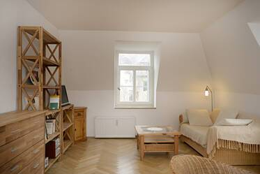 Very good location near Gärtnerplatz: Furnished 3-room apartment with washing machine
