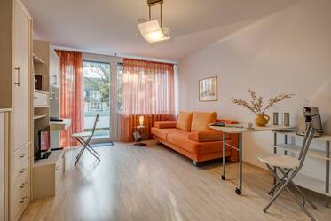 Nicely furnished 1-room studio in Munich Harlaching