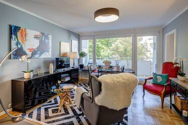 Prime location in Munich-Herzogpark: Charming, furnished 1-room apartment with internet flatrate