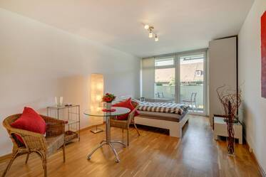Bright and nicely furnished with west-facing balcony
