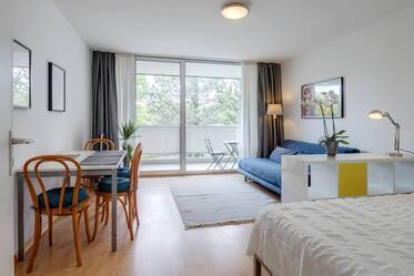 Near English Garden: 1-room apartment in Munich-Schwabing