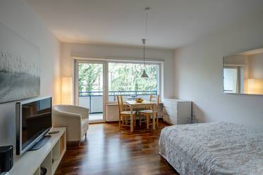 Untersendling: furnished 1-room apartment with internet, washer-dryer and balcony