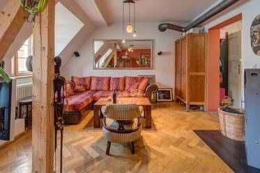 Nicely furnished 3- attic apartment  München Obergiesing