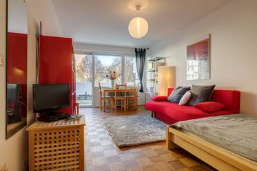 Nicely furnished 1-room apartment in central and quiet location, Munich-Maxvorstadt/Neuhausen