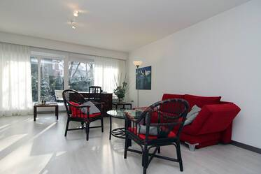 Beautiful, furnished 2-room garden apartment in Munich-Solln