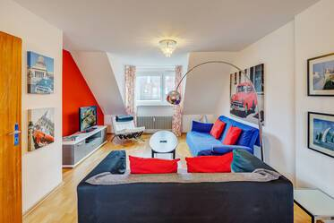 Beautifully furnished 2-room apartment in Munich Neuhausen