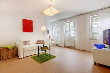 Near Isarauen and Zoo Hellabrunn: Nicely furnished, bright 1-room apartment in Munich-Untergiesing