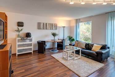 Bright, nicely furnished 1-room ground floor apartment with terrace in Munich-Trudering