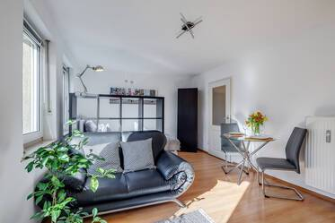 Parkstadt Bogenhausen: Very beautiful, furnished 1-room with large south-terrace