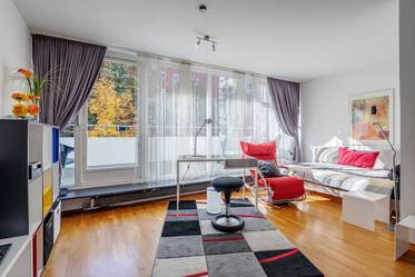 Munich-Schwabing: lovely furnished 1-room apartment with WLAN and balcony