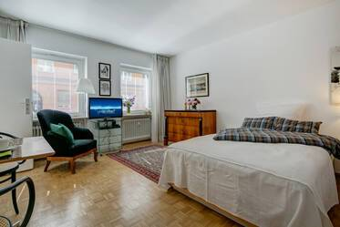 Nicely furnished 1-room studio in Munich Lehel