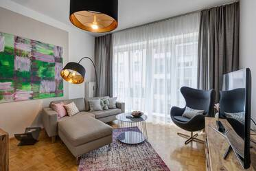 Beautifully furnished 3-room apartment in Munich Lehel