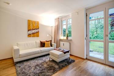 Beautifully furnished 1.5-room apartment with garden 	 in Haar