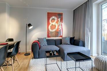 Stylishly furnished apartment in great location in Maxvorstadt