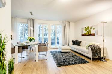 Premium: High-quality furnished 2-room apartment with internet, parking and balcony in Munich-Bogenhausen