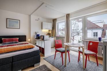 Lovely 1-room apartment with internet, south-facing balcony in Munich Untergiesing