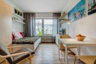 Nicely furnished 1-room studio in Munich Nymphenburg