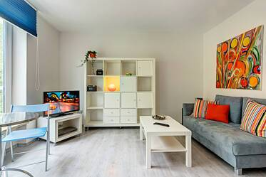 Very good, central location: Bright 1-room apartment in Glockenbachviertel near Sendlinger Tor